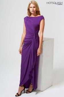 HotSquash Purple Grecian Dress
