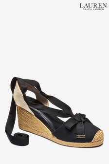 Lauren Ralph Lauren® Black Wedge Sandal