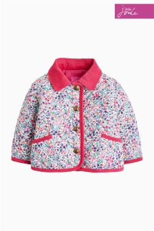 Joules Pink Ditsy Baby Mabel Quilted Jacket