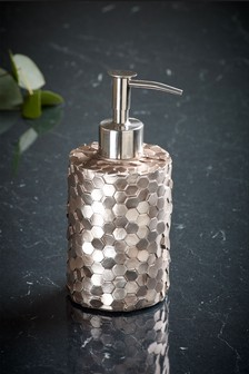 Metallic Hexagonal Soap Dispenser