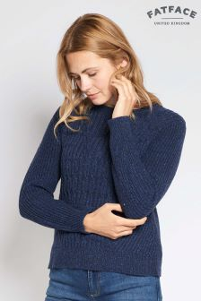 FatFace Navy Audrey Cable Jumper