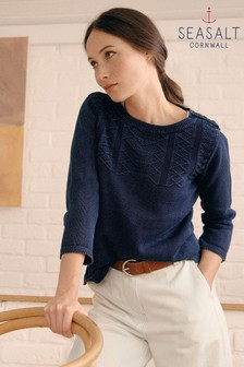 Seasalt Blue Etches Jumper