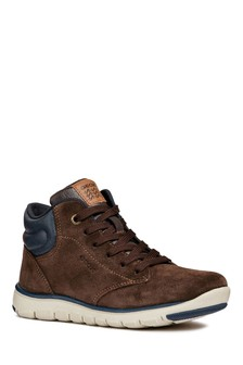 Geox Xunday Boy Brown/Navy Ankle Boot