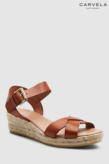 Carvela Comfort Tan Leather Shirley Sandal