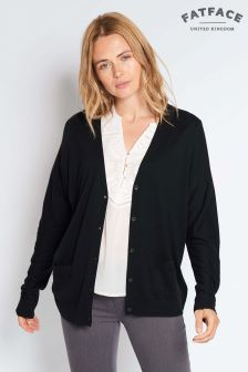 FatFace True Black Ivy Oversized Cardi