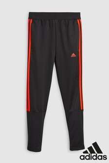 adidas Black/Red Tiro 3 Stripe Jogger