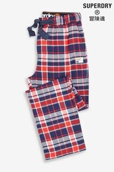 Superdry Red Check Pyjamas Bottom