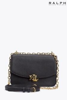 Ralph Lauren Leather Madison Monogram Cross-Body Bag