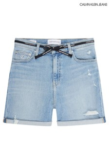 Calvin Klein Jeans Blue Mom Shorts