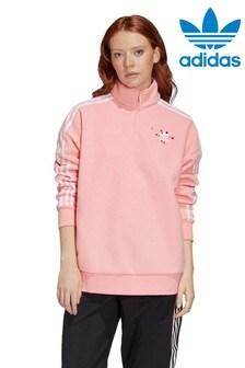 adidas Originals Valentines 1/4 Zip Fleece Top