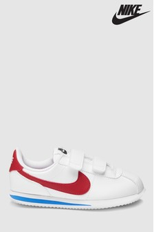 Nike White/Red Cortez Junior