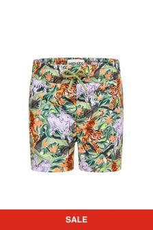 Kenzo Kids Baby Boys Khaki Swim Shorts