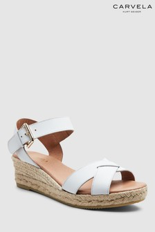 Carvela Comfort White Leather Shirley Sandal