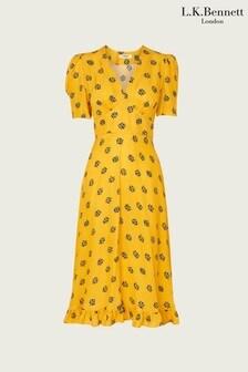 L.K.Bennett Yellow Elson Dress