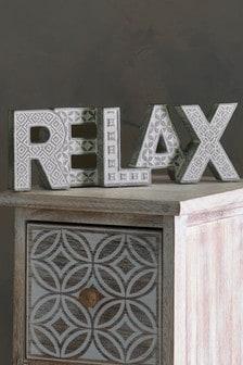 مكعب على شكل كلمة Relax