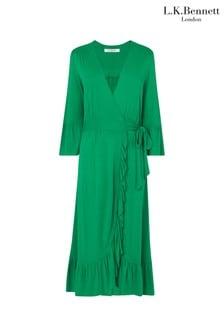 L.K.Bennett Green Vika Dress