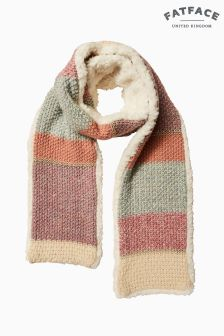 FatFace Pink Layla Knitted Scarf