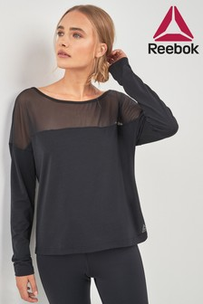 Reebok Mesh Long Sleeve Cropped Top