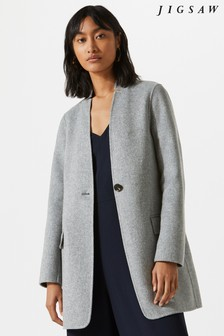 Jigsaw Grey Double Face Chip Rever Jacket