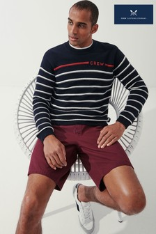 Crew Clothing Company Blue Crew Striped Breton Jumper