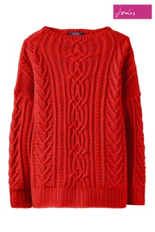 Joules Red Cara Cable Jumper