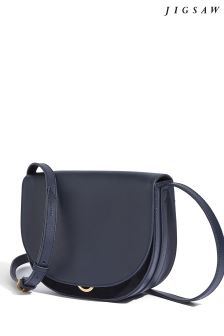 Jigsaw Navy Milas Saddle Cross Body Bag