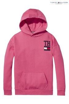 Tommy Hilfiger Pink Stamp Boyfriend Hoody