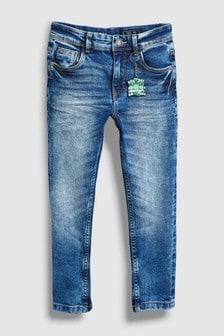 Skinny-Jeans mit Minecraft-Schlüsselring, Acid-Waschung (3-16yrs)