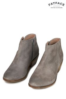FatFace Grey Lytham Suede Ankle Boot