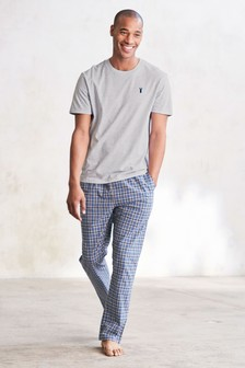 Check Woven Long Pyjama Set