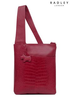 Radley Claret Medium Crossbody Pocket Zip Top Bag