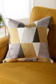 Diamond Geo Print Cushion