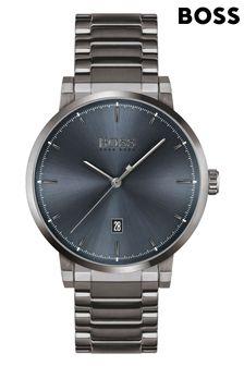 BOSS Confidence Grey IP Bracelet Watch