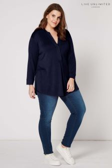 Live Unlimited Navy Top