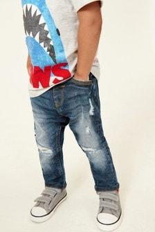Five-Pocket-Jeans in Used-Optik (3Monate bis 7Jahre)