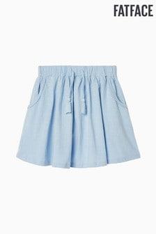 מכנס ג'רזי קצר כחול חלק של FatFace