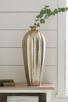 Tall Glass Mercury Vase