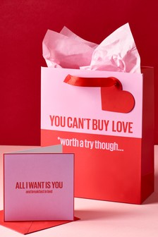 Valentines Card And Bag Bundle