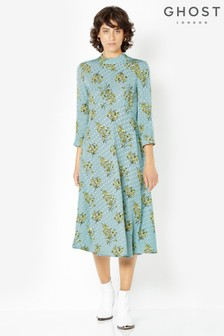 Ghost London Printed Lillia High Neck Dress