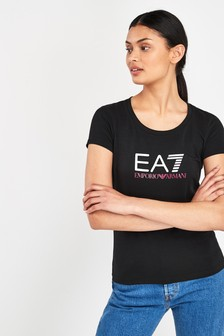 7b9b53ec77996 Emporio Armani 7 Tops & T Shirts | EA7 Black Tops For Women | Next