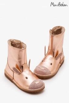 Boden Metallic Short Leather Boot