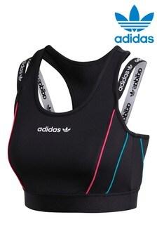 adidas Originals Tech BH mit schmale Trägern, Schwarz