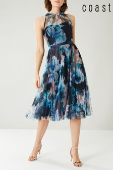 Coast Blue Jagger Tiered Mesh Dress