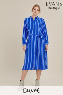 Evans Curve Blue/White Stripe Shirt