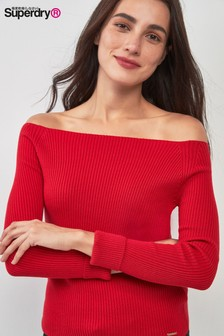 Superdry Red Bardot Knit