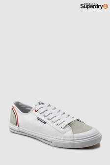 Superdry White Retro Low Pro Sneaker