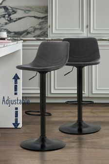 Wyatt Monza Faux Leather Adjustable Bar Stool