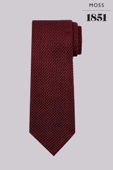 Moss 1851 Wine Knitted Silk Tie