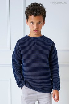 Angel & Rocket Blue Ripple Stripe Jumper