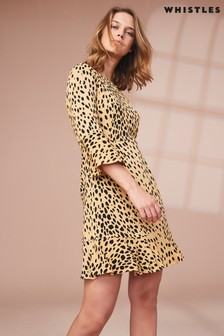 960375124bfb4 Whistles Animal Print Flippy Dress